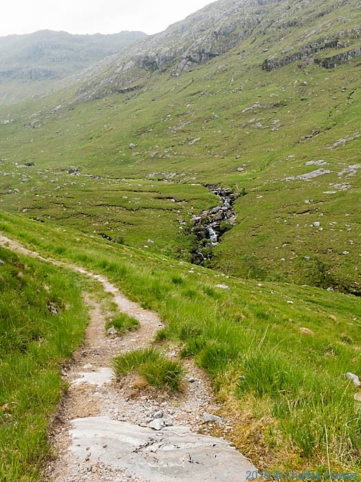 Path approaching Meall Buidhe Munro, Knoydart, Scotland, photographed by Charles Hawes