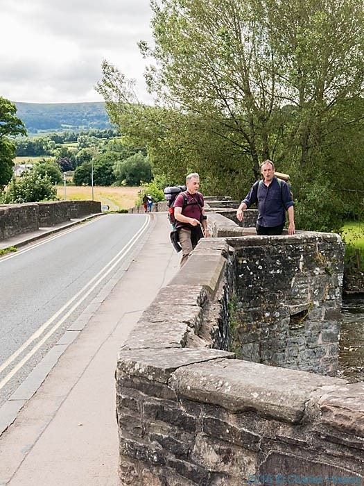 Bridge at Crickhowell, photographed on the Cambrian Way by Charles Hawes