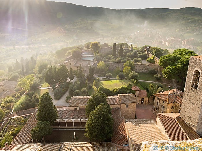 View over San Gimignano from the Torre Rognosa, photographed by Charles Hawes