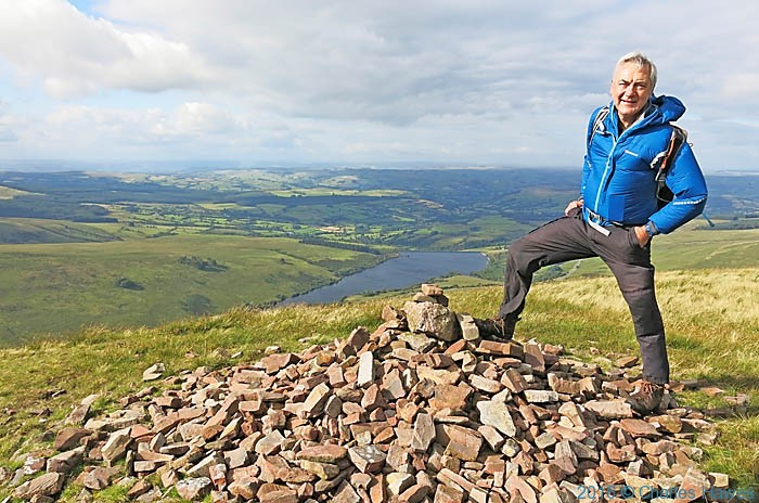 Charles Hawes on the Cairn by Fan Gyhirych photographed on the Cambrian Way by Neil Smurthwaite