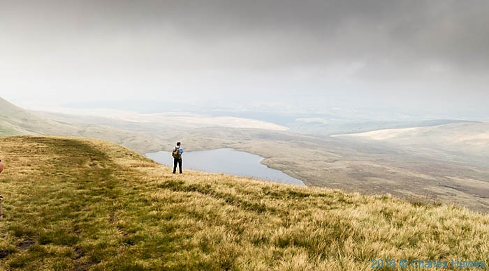 Llyn y Fan Fawr, photographed from The Cambrian Way by Charles Hawes