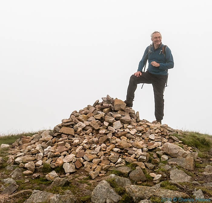 Charles Hawes at Fan Foel on the Cambrian Way