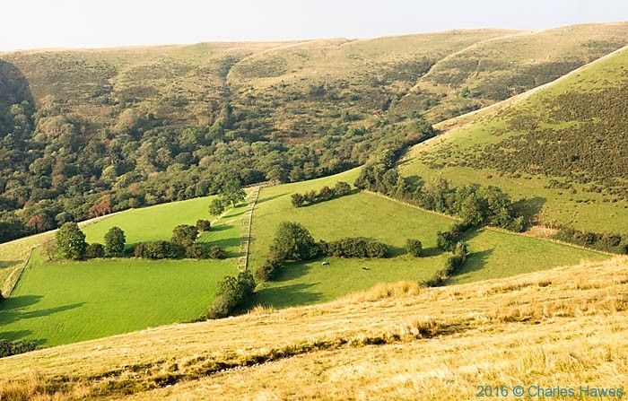 Approaching Llandeusant from above Llyn Fay Fan Fach photographed from The Cambrian Way by Charles Hawes