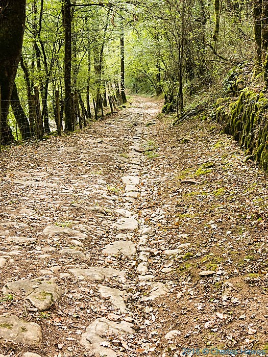 Stone based track near Turenne on the GR446-480 photographed by Charles Hawes
