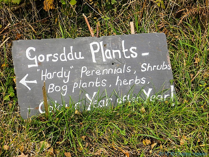 Signh for Gorsddu Plants, near Llandeusant, Carmarthenshire, photographed from the Cambrian way by Charles Hawes
