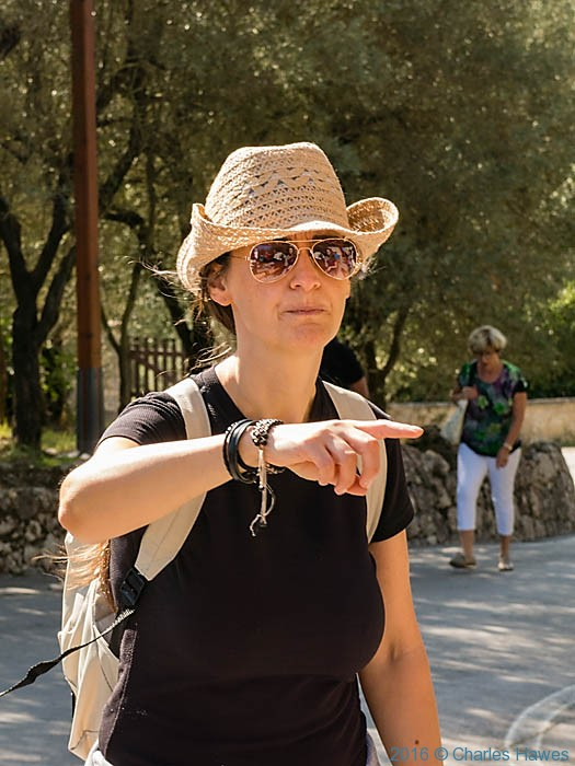 Antonella Villa on Via Francigena with IWW, photographed by Charles Hawes