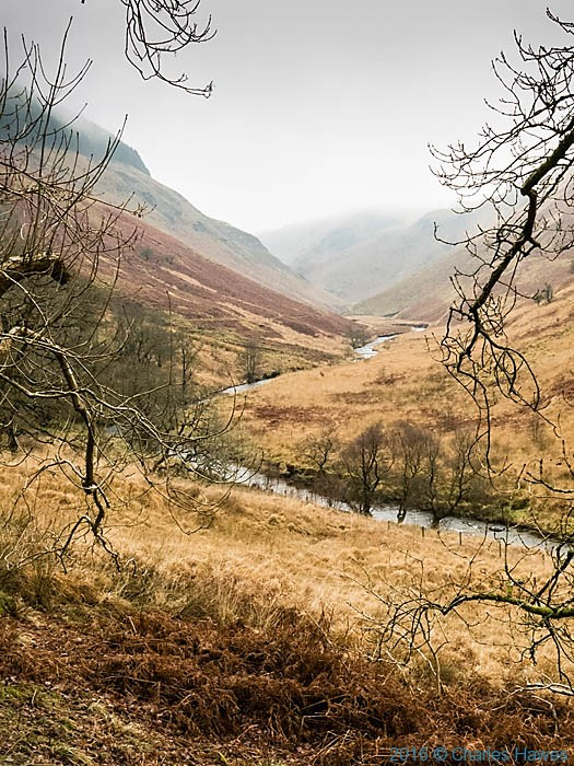 Doethie valley photographed from the Cambrian way by Charles Hawes