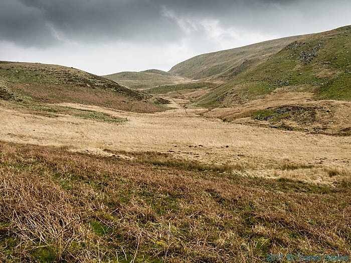 Moorland below the Teifi Pools, photographed from The Cambrian Way by Charles Hawes