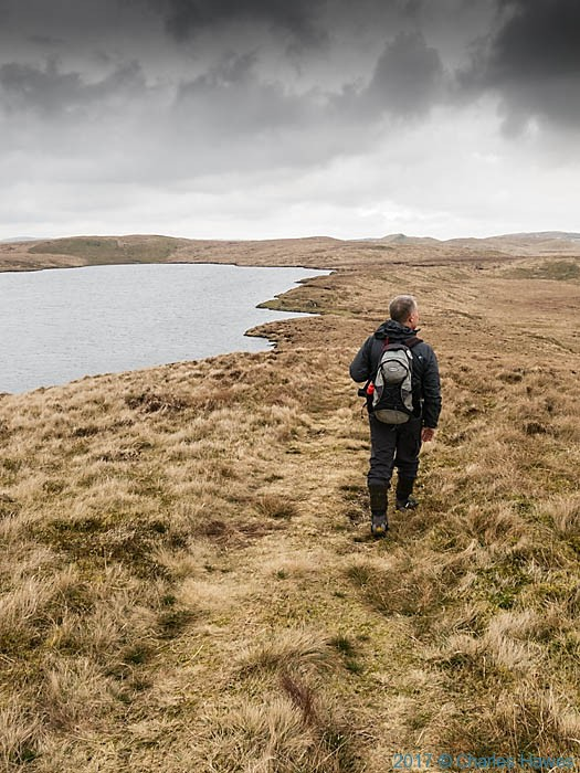 Llyn Fyrddon Fawr photographed from The Cambrian Way by Charles Hawes