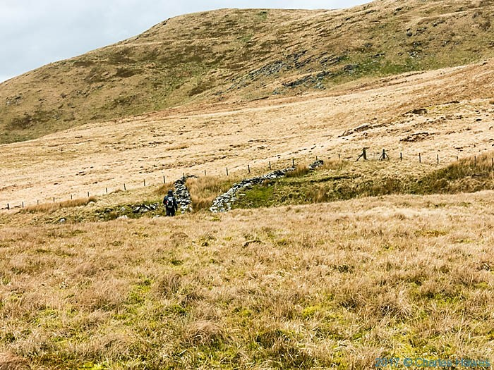 Moor below Domen Milwyn, photographed from the Cambrian Way by Charles Hawes
