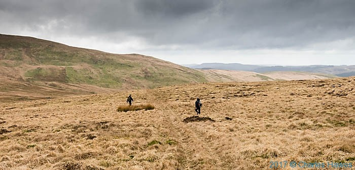 Track leading to Cwmystwyth photographed from the Cambrian Way by Charles Hawes