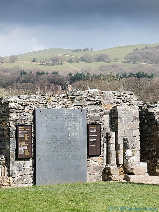 Dafydd ap Gwilym memorial, Strata Florida, photographed from The Cambrian Way by Charles Hawes