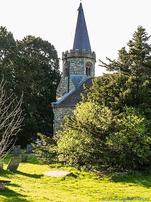 St Garmon church, Llanarmon Dyffryn Ceiriog, photographed by Charles Hawes