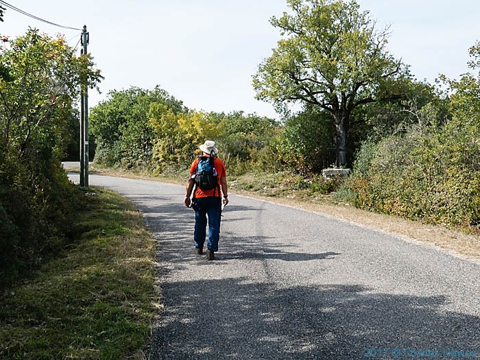 D33 near Penne, France, photographed by Charles Hawes