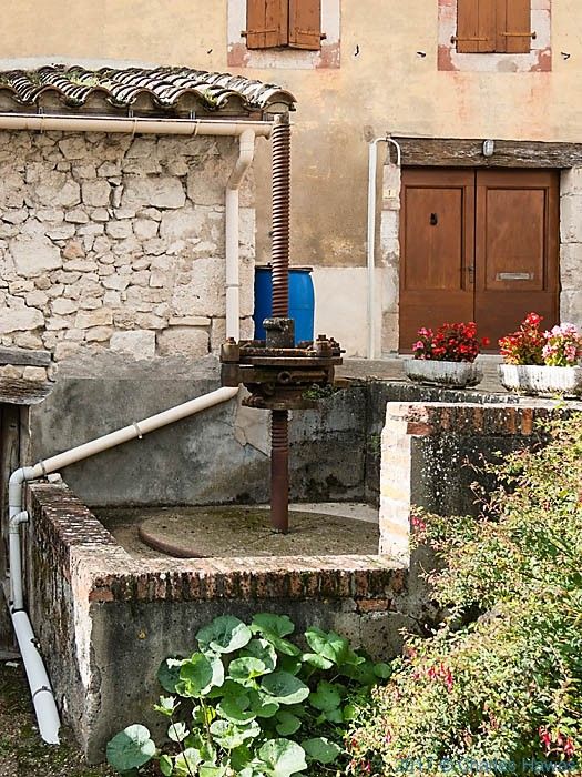 Wine Press at Viex, France, photographed by Charles Hawes