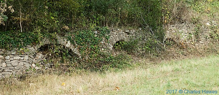 Kilns below Cordes, France, photographed by Charles Hawes