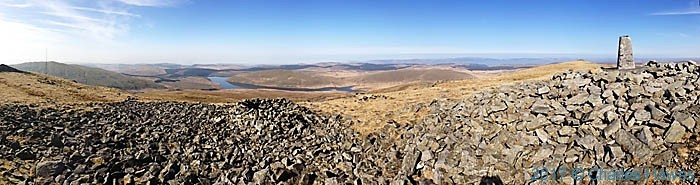 View from the summit of Plynlimon, photographed by Charles Hawes