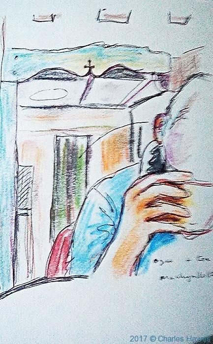 Sketch of Charles Hawes by Paul Steer