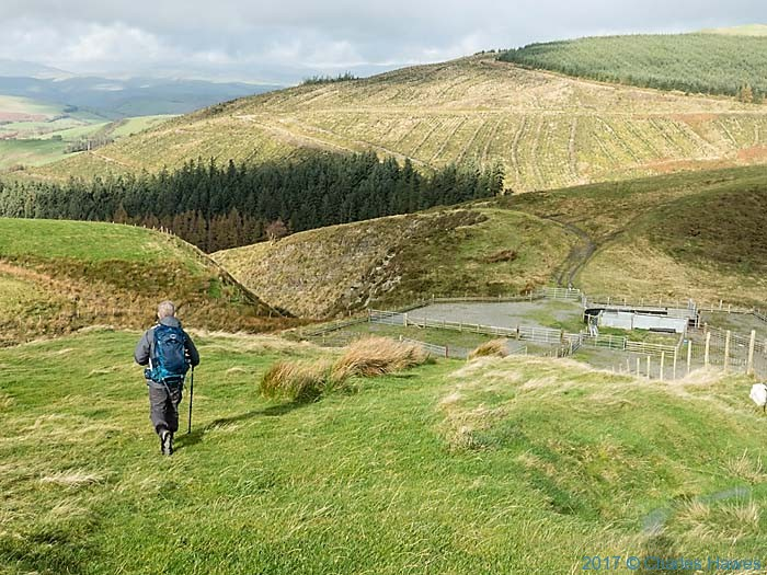 The Cambrian Way near Dylife, Wales, photographed by Charles Hawes