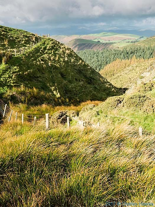 View from the Cambrian Way near Dylife, Wales, photographed by Charles Hawes