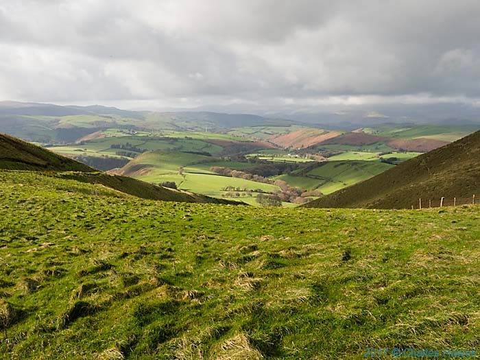 View from the Cambrain Way near Moelfre Fach, photographed by Charles Hawes