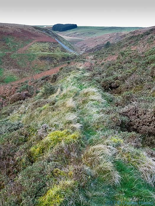 Cambrian Way near Dylife, photographed by Charles Hawes