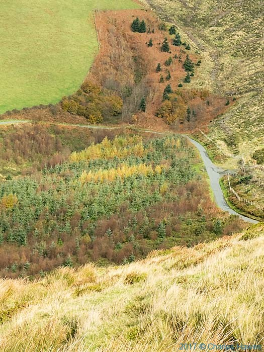 View from the Cambrain Way between Dylife and Commins Coch, photographed by Charles Hawes
