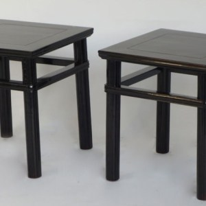 Black Lacquer Stool