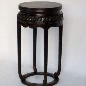 Elm Wood Round Incense Stand, Shanxi Province, China, Late 18th Century