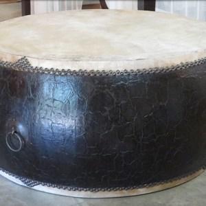 Black Crackle Lacquer Drum