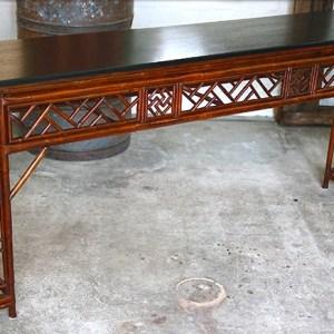 Bamboo Altar Table with Mahogany Top