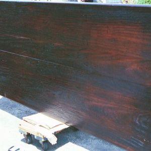 Antique Ironwood Door As Table Top