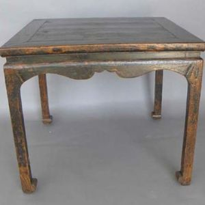 Elm Square Table, Shanxi Province China, Late 18th Century