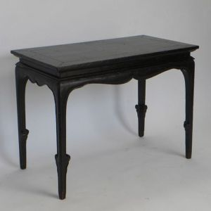 Black Crackled Lacquered Elm Table, Anhui Province, China, Late 17th Century