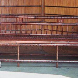 3 Seater Bamboo Bench, China, 19th Century