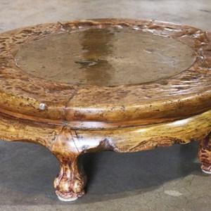 Walnut Low Round Table