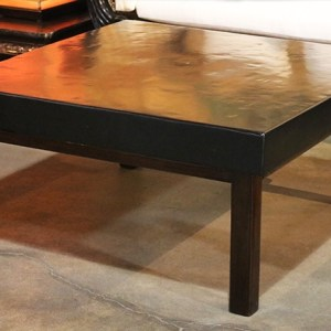 Clay Top Elm Wood Cocktail Table