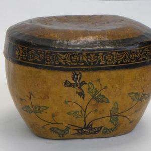 Papier Mache Box with Cover, Shandong Province, China, Early 20th Century