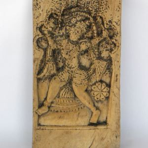 Carved Wooden Chariot Panel