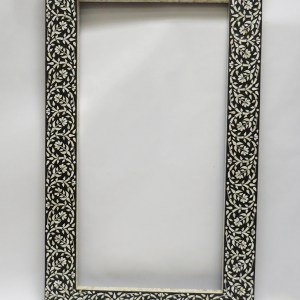 Black and White Inlay Mirror Frame