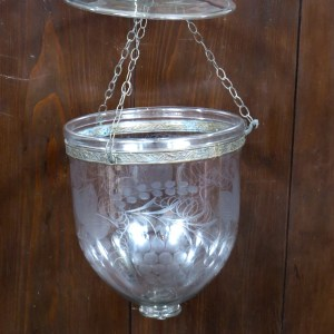 Antique Etched Glass Hundi