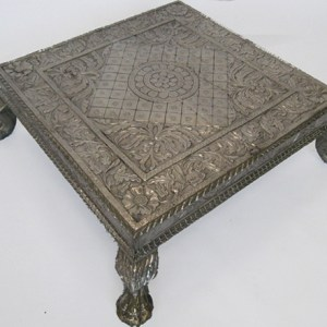 Wood And Metal Bajot Table