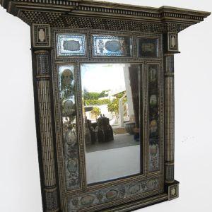 Ebony Wood, Bone Mirror Frame