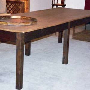 Long Table with Japanese Ajiro Mat Top