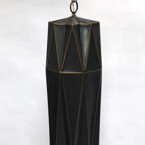 Antique Brass Origami Hanging Lamp