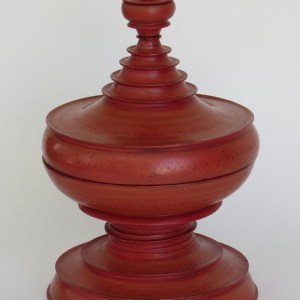 Burmese Lacquered Offering Vessel
