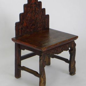 Painted Chinese Chair, China, 19th Century, Seat H 18