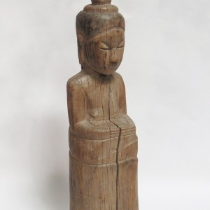 Carved Wood Seated Buddha