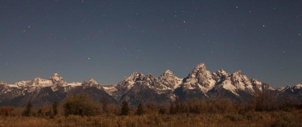Moonlit Tetons, October 23, 2013