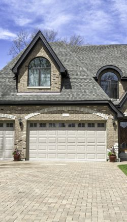 Traditional American Home with three car Garage